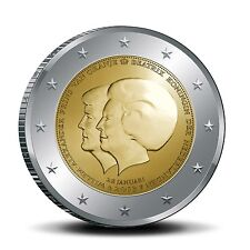 "Nederland 2 euro ""dubbelportret"" 2013 UNC Commemorative,zo uit de rol"