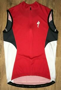 Specialized Red cycling vest sleeveless jersey size M