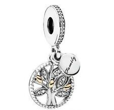 Pandora Replica Cubic Zirconia Family Charm Bracelet Necklace Pendant Silver