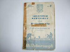 Sheffield Wednesday v Birmingham City - Division One - Sat 28th Sep1957