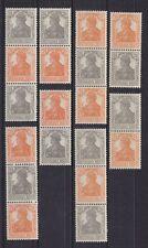 Germania 1916/17 Zusammendrucke S 11 a - S 14 a + S 11 b - S 14 b ** gepr.kpl.
