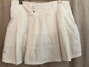 Lululemon Tennis Skirt size 6 Pace Rival Skort White Run Golf Gym6