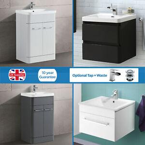 Small Vanity Sink Basin Unit   High Gloss   Bathroom Cabinet Storage Furniture