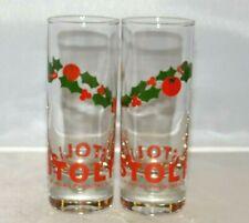 2 - Stoli Russian Vodka Shotglasses Barware Shot Glasses Mistletoe Christmas