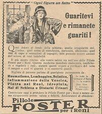 W4203 Pillole FOSTER - Ogni figura un fatto - Pubblicità del 1930 - Vintage ad