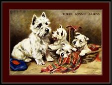 English Picture West Highland Terrier Dog Puppy Art
