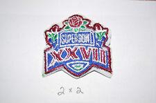 "Super Bowl XXVII (27) 2"" Logo Patch Dallas Cowboys vs Buffalo Bills Football"
