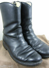 Vintage 1950s Mentor Motorcycle Zipper boots w/shearling lining