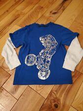 Gymboree Boy's Metallic Biking Astronaut Shirt, Size 5