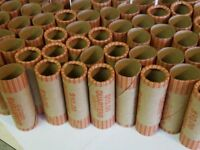 100 PREFORMED QUARTERS WRAPPERS ROLLS - Quarters Tubes