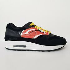 NIKE AIR MAX 1 Rolling Stones Rare Limited Edition Collectors Black Trainers UK7