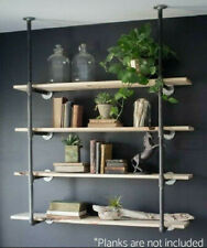 Wall Mount Iron Pipe Shelf Hang Bracket DIY Storage Shelving Bookshelf 2 Pcs New