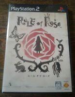 *SUPER RARE* Rule of Rose (Sony PlayStation 2, 2006) L@@K VG-VG+ GRADE NTSC-J