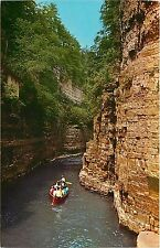 Famous Boat Ride Ausable Chasm Ny New York Table Rock Rapids Flume Postcard