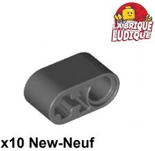 Lego Technic - 10x Liftarm 1x2 axle axe hole gris f/dark bluish gray 60483 NEUF