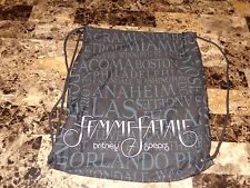 Britney Spears New Unused VIP Travel Record Tote Bag Drawstring Femme Fatal Tour