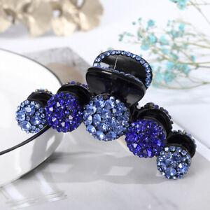 Women Large Rhinestone Claw Crystal Hair Clip Girls Ponytail Hair Accessories