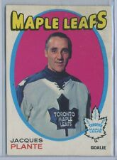 1971-72 OPC Hockey #195 JACQUES PLANTE Toronto Maple Leafs EX