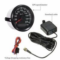 85mm GPS Analog Speedometer Odometer Gauge for Car Motor Motorcycle Marine