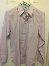 BNWT Hartstring Button down Pink/Green long sleeve shirt Youth 14 boy Retail $44