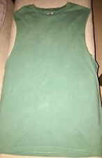 ASOS Sleeveless Muscle Tank size M cotton NWOT rolled cutoff sleeves pine green