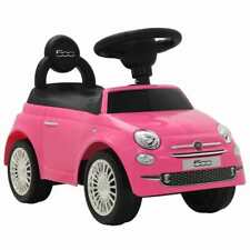 vidaXL Auto per Bambini Fiat 500 Rosa Cavalcabile Macchina Gioco Giocattolo