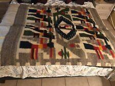 Vintage Handmade Wool Native American Throw Blanket/Tapestry