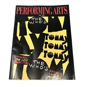 Vtg 1994 The Who TOMMY Los Angeles Universal Amphitheater Program Magazine