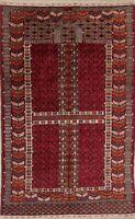 "250 Knots Vintage Geometric 4x6 Kazak Russian Oriental Area Rug 5' 9"" x 3' 8"""