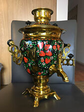 Vintage Russian Hand-Painted Electric Samovar Soviet Era 1990
