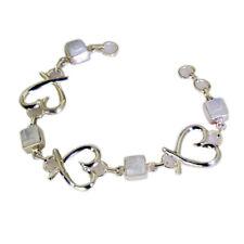 Exporter 925 Solid Sterling Silver Fascinating Natural White Bracelet Gift UK