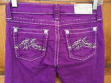 Miss Me Skinny Purple Jeans Size 14