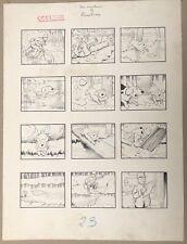 Dessin Planche Originale Encre Aventures De Flambeau Benjamin Rabier (1864-1939)