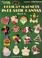 Holiday Magnets in Plastic Canvas Book 3 Leisure Arts 1432 Christmas Halloween