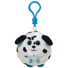 TY Beanie Baby Ballz - RASCAL the Dalmation Dog (Plastic Key Clip - 2.5 inch)