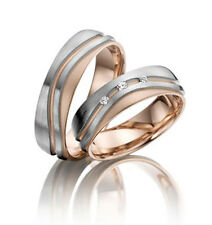 One Pcs Stainless Steel Cz Rose Gold Wedding Band Engagement Ring For Women Sz 6