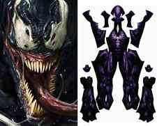 Spider-Man Symbiote Venom Realistic Costume Pattern