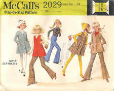 Vintage 1969 McCall's # 2029 Sewing Pattern: Girls' Separates: Size 12
