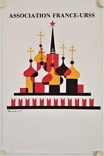 Affiche Bernard RONFAUT - Association FRANCE USSR