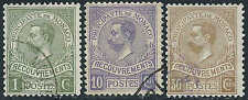 Monaco - 1910 - Timbres Taxe - Albert Iier  - N° 8/9/10  - Oblit - Used