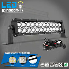 14inch 72W Led Light Bar Work Spot Flood Combo Driving Boat 4Wd Atv+ Wiring Kit