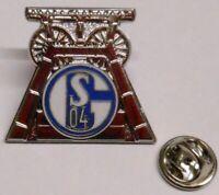 Pin Anstecker + FC Schalke 04 + Signet Förderturm Zeche Kumpel Lizenzware #40