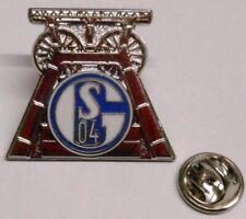 Pin / Anstecker + FC Schalke 04 + Signet Förderturm Zeche Kumpel Lizenzware #40
