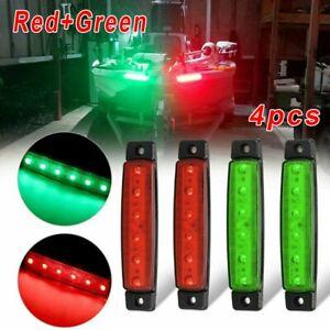2*Red And 2*Green Lights DC12V,6LED Navigation Stern Boats Starboard-Lamp