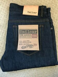 RAILCAR Spikes X001 Selvedge Selvage White Oak Cone Denim Jeans 34 made in USA