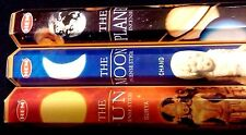 SPACE The Planet The Moon The Sun 60 HEM Incense Sticks 3 Scent Sampler Gift Set