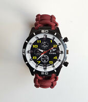 Paracord Watch with The Parachute Regiment (Paras) Colours a Great Gift