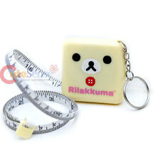 San x Rilakkuma Korilakkuma Measure Tape Key Chain Tapeline Dual Scale in cm