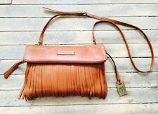 FRYE Heidi Fringe Crossbody Bag Whiskey Brown LEATHER Boho NEW *ON SALE!*