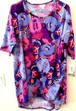 NWT Lularoe Large IRMA Disney Collection Mickey Minnie Purple Pink Blue Unicorn!